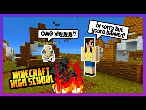 I HAD TO KICK HER OUT OF THE VILLAGE! - Minecraft High School ( NEW Survival) thumbnail