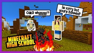 I HAD TO KICK HER OUT OF THE VILLAGE! - Minecraft High School ( NEW Survival)