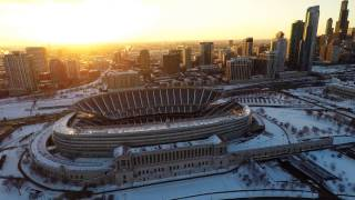 Frozen Sky (Drone Media Chicago)