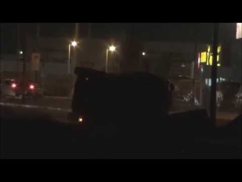 Bahrain : Police Armoured Vehicle Flips Over After Trying To Kill Youths With Shotgun