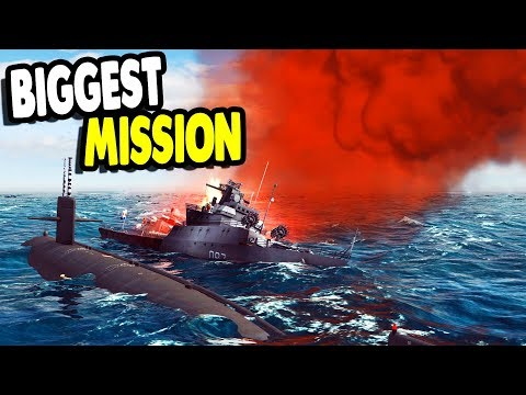 SINKING BIG ENEMY FLEET Nuclear Submarine Warfare & Navy Seals    Cold Waters Gameplay