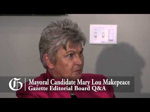 Colorado Springs mayoral candidate Mary Lou Makepeace meets with the Gazette Editorial Board