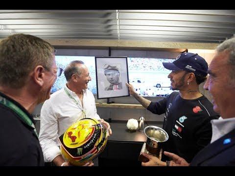 El encuentro entre Hamilton y Fangio II en Brasil (12-11-2018) Carburando.com