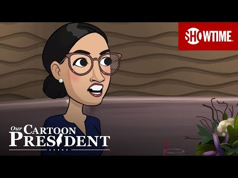 "Cartoon AOC Shows Cartoon Joe Biden How to Appear ""With It"" | Our Cartoon President | Season 3"