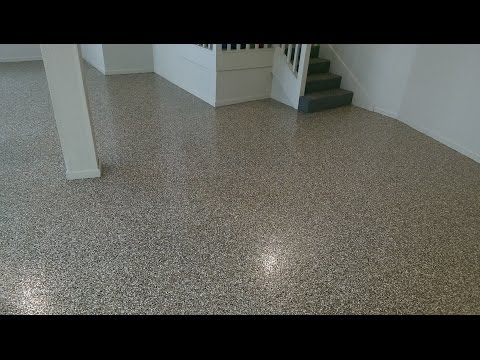 Decorative Concrete Epoxy Chip Garage Flooring Custom Concrete Design | Lake of the Ozarks Mo