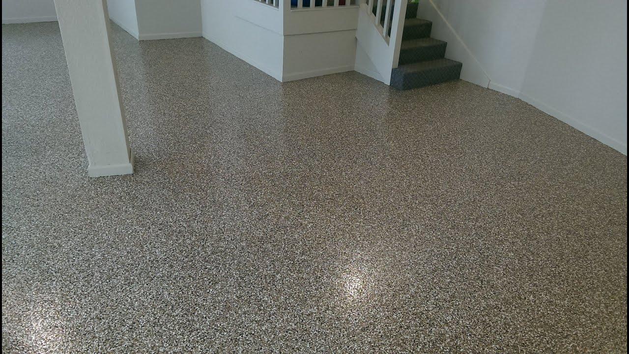 Decorative Concrete Epoxy Chip Garage Flooring Custom
