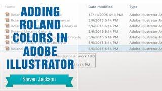 Adding Roland Colors in Adobe Illustrator