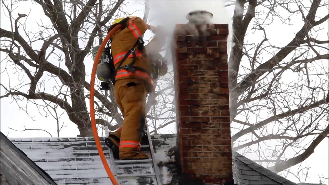 Chimney Fire, Janesville, Iowa Feb. 6, 2018