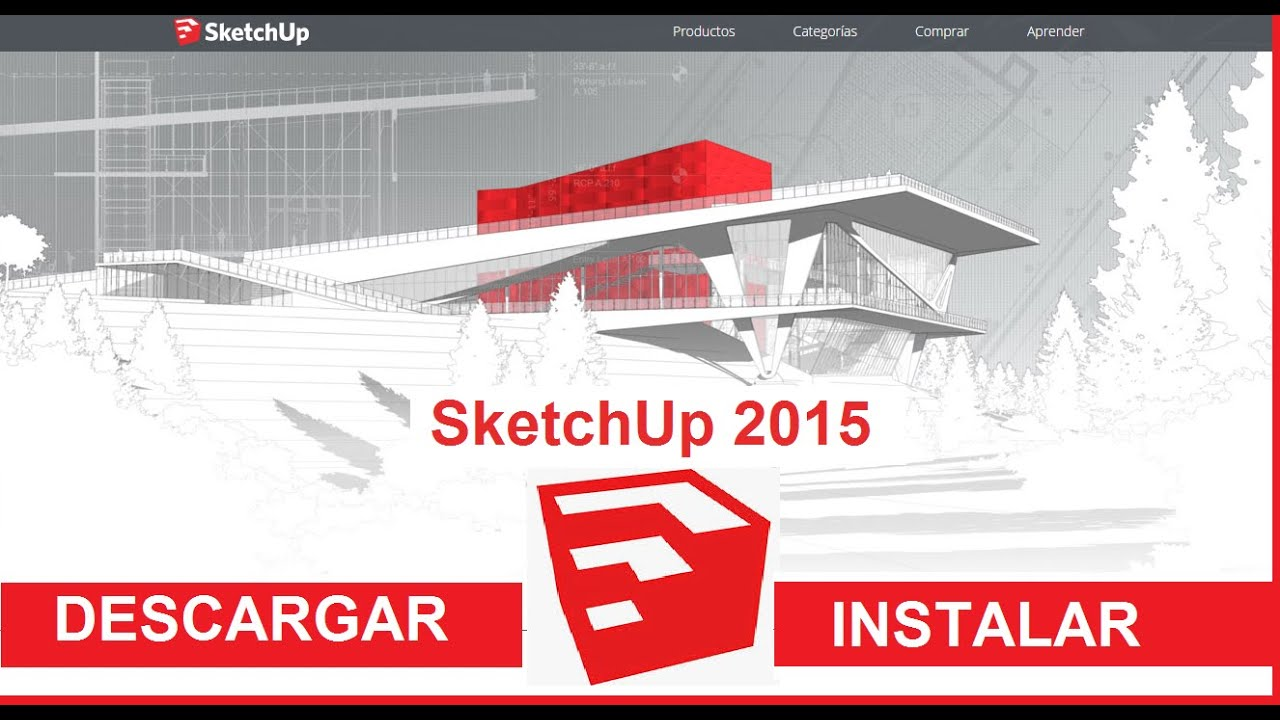 sketchup 2015 descargar instalar y primeros pasos youtube. Black Bedroom Furniture Sets. Home Design Ideas