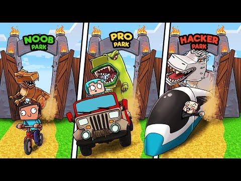 Minecraft - JURASSIC PARK! (NOOB vs PRO vs HACKER) thumbnail