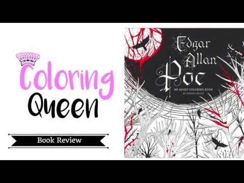Edgar Allan Poe Coloring Book Review - Odessa Begay