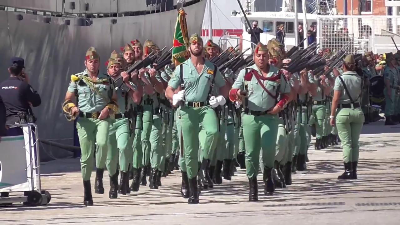 Desembarco De La Legión En Málaga 2016 Hd 1080p 50 Frames Youtube