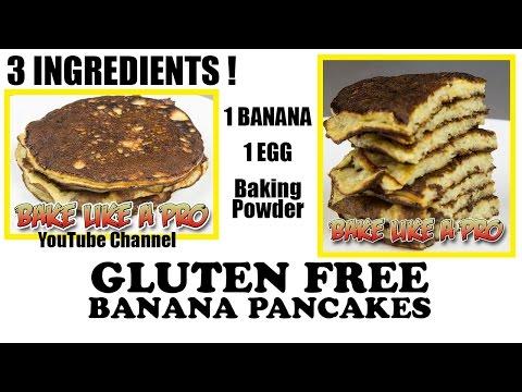 Easy 3 Ingredient Gluten FREE Banana Pancakes Recipe