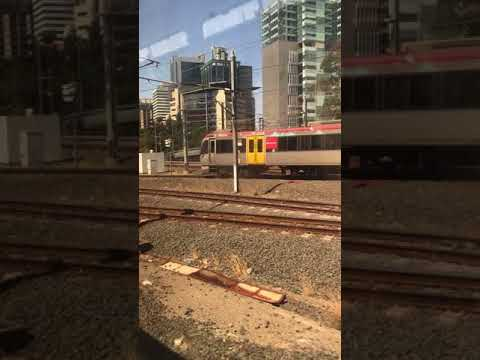 Queensland Rail ride between Roma St to Brisbane Central.