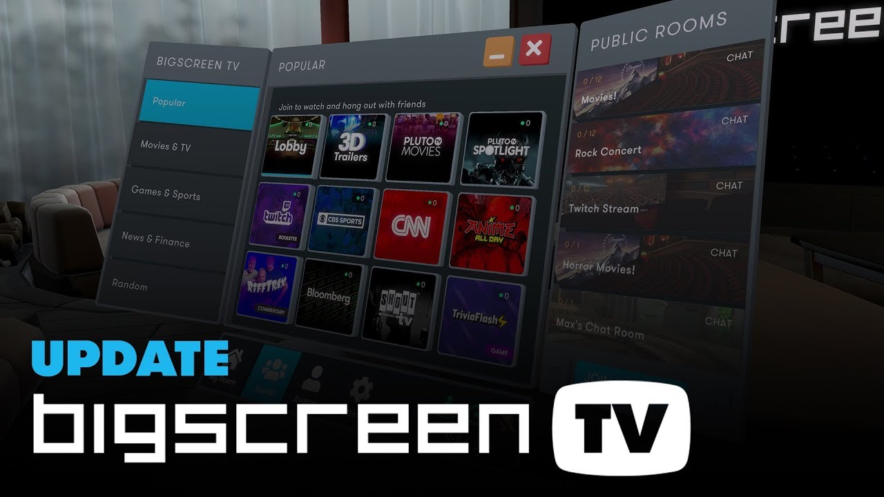Introducing BIGSCREEN TV: watch movies, news, Twitch, sports, and 50