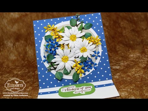 Garden Notes Shasta Daisy, Forget-Me-Nots & Forsythia Bouquet Easel Card