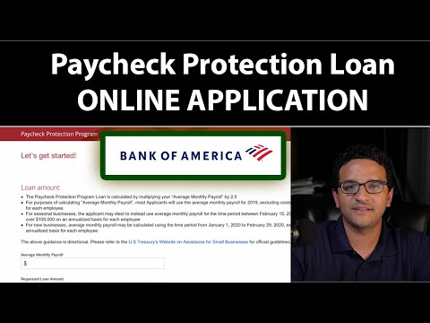 Bank Of America - Paycheck Protection Program (PPP) Loan Application