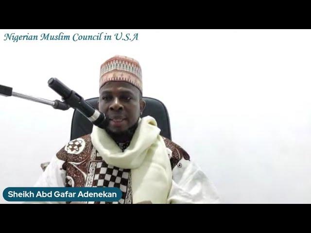 Islamic Perspective on Feeding the Needy   Sheikh AbdulGhafaar Adenekan