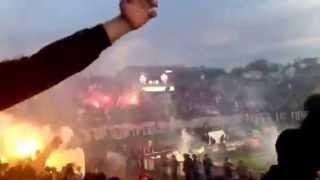 ベオグラード・ダービー、山火事のようなスタジアム