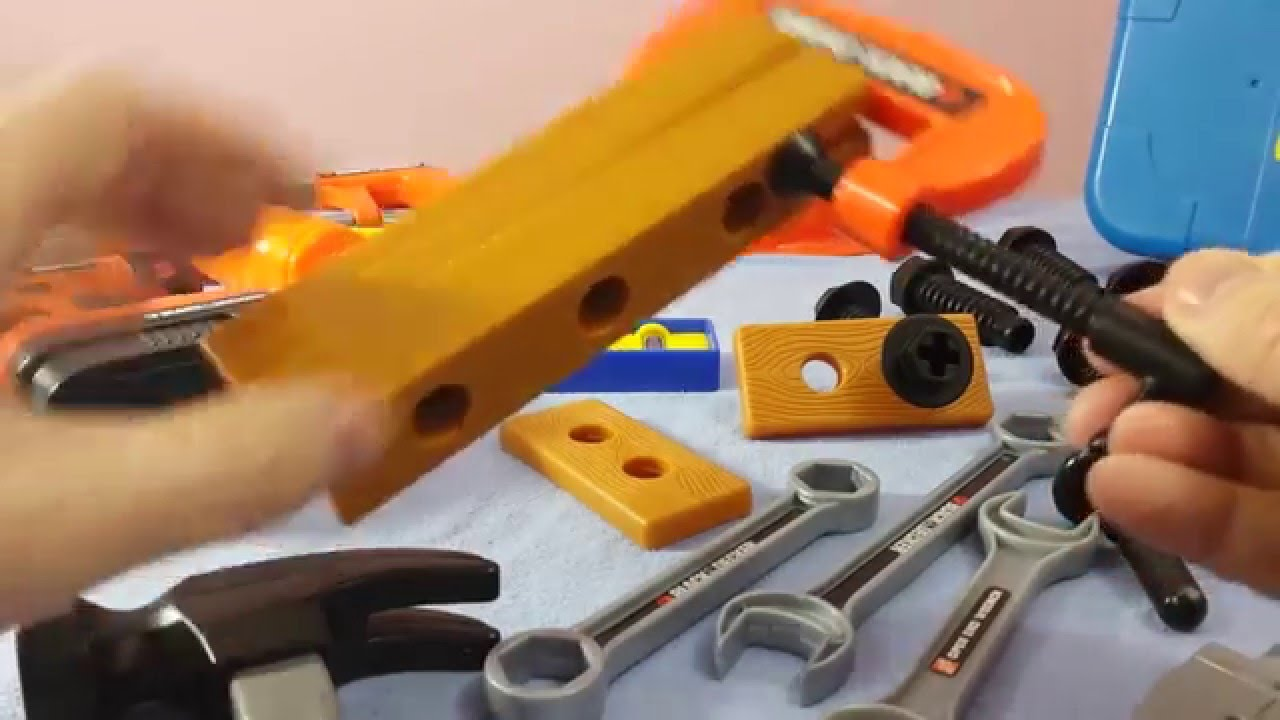a21c39235 Power Tool Toys Black and Decker Bob The Builder real Toy tools Part 2 -  YouTube