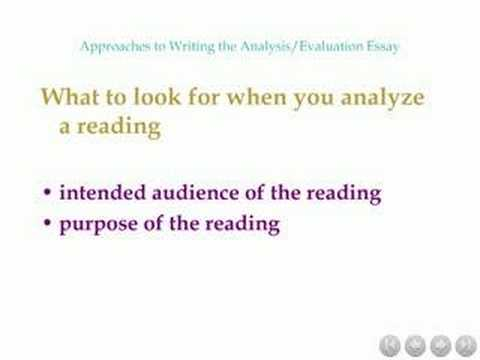 writing an evaluative essay
