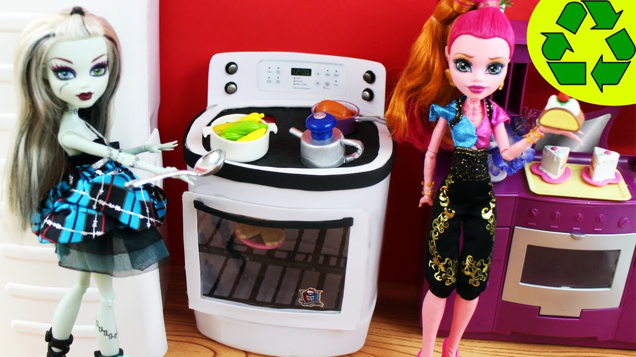 Make a Doll Stove  Oven Doll Crafts  YouTube