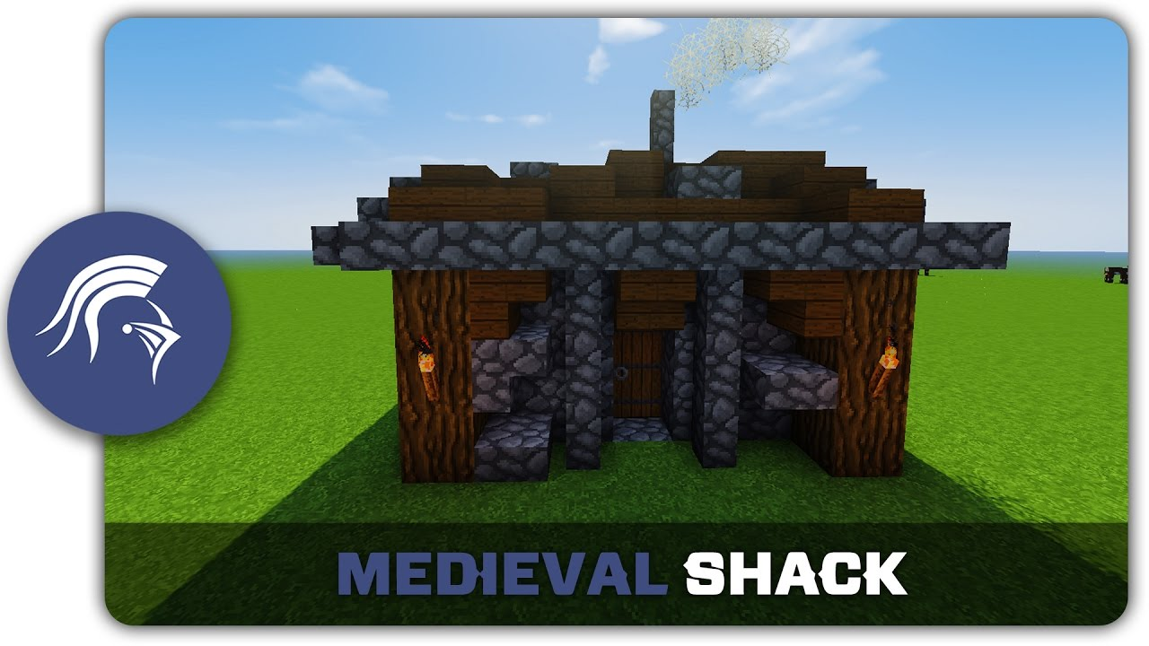 Minecraft building tutorial how to build a medieval for How to build a small shack