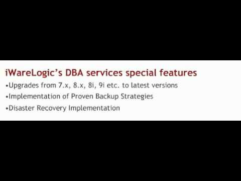 Offshore Remote Oracle DBA Apps DBA Support Services, iWareLogic, India