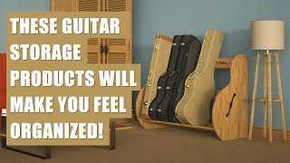 Wood Guitar Storage Products for the Home or Studio