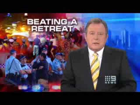 09 07 31 GTV 9 News Andrew McIntosh on 100 fewer police in Melb CBD