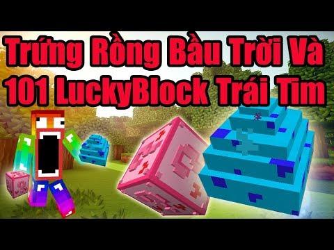 Minecraft Đảo Rồng Ss4 #15 : Quả Trứng Rồng Bầu Trời Và 101 LuckyBlock Trái Tim