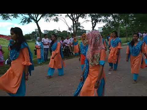 begum rokeya University Rangpur Flash Mob | statistics department 5th Batch | Rag Day 2018