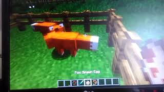 How To Tame A Fox In Minecraft!!      ।Minecraft Video