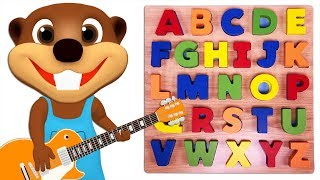 Kids Learn Colors & Abcs With Wooden Puzzle Toy | Teach A To Z & Abc Song For Children Toddlers Baby