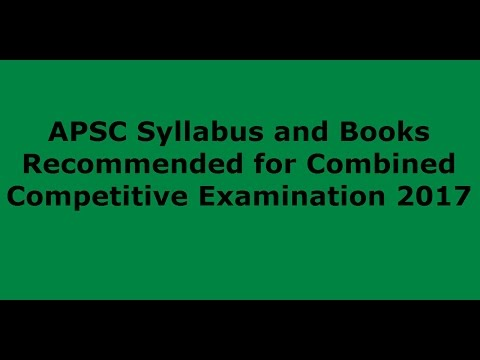 APSC Syllabus and Books