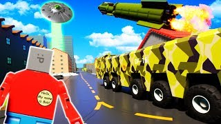 Saving Lego City from a ALIEN INVASION? - Brick Rigs Gameplay Roleplay