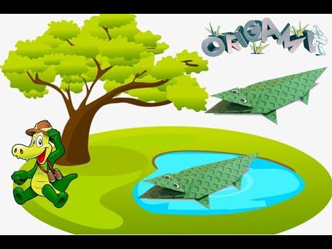Cách gấp, xếp con cá sấu bằng giấy origami - Video hướng dẫn xếp hình