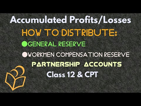 Distribution of Accumulated Profits/Losses-Partnership Accounting