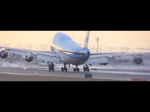 SOFT! KLM 747-400 Landing Toronto YYZ