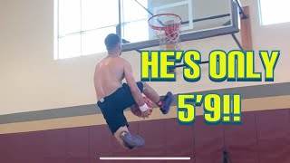 Teaching Someone To Dunk!! Plus My Weightlifting Session Video