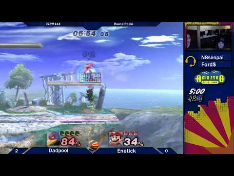 CZPM113 Round Robin: Dadpool (Lucaro/Diddy/Falco) vs Enetick (Lucario/Fox/Mario)