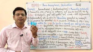 NSAID (Non Steroidal Anti Inflammatory Drugs)Part-05- Paracetamol-Acetaminophen. Hindi