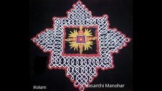 15 x15 Dotted kolam | Dotted Rangoli | Kolam with dots | Muggulu