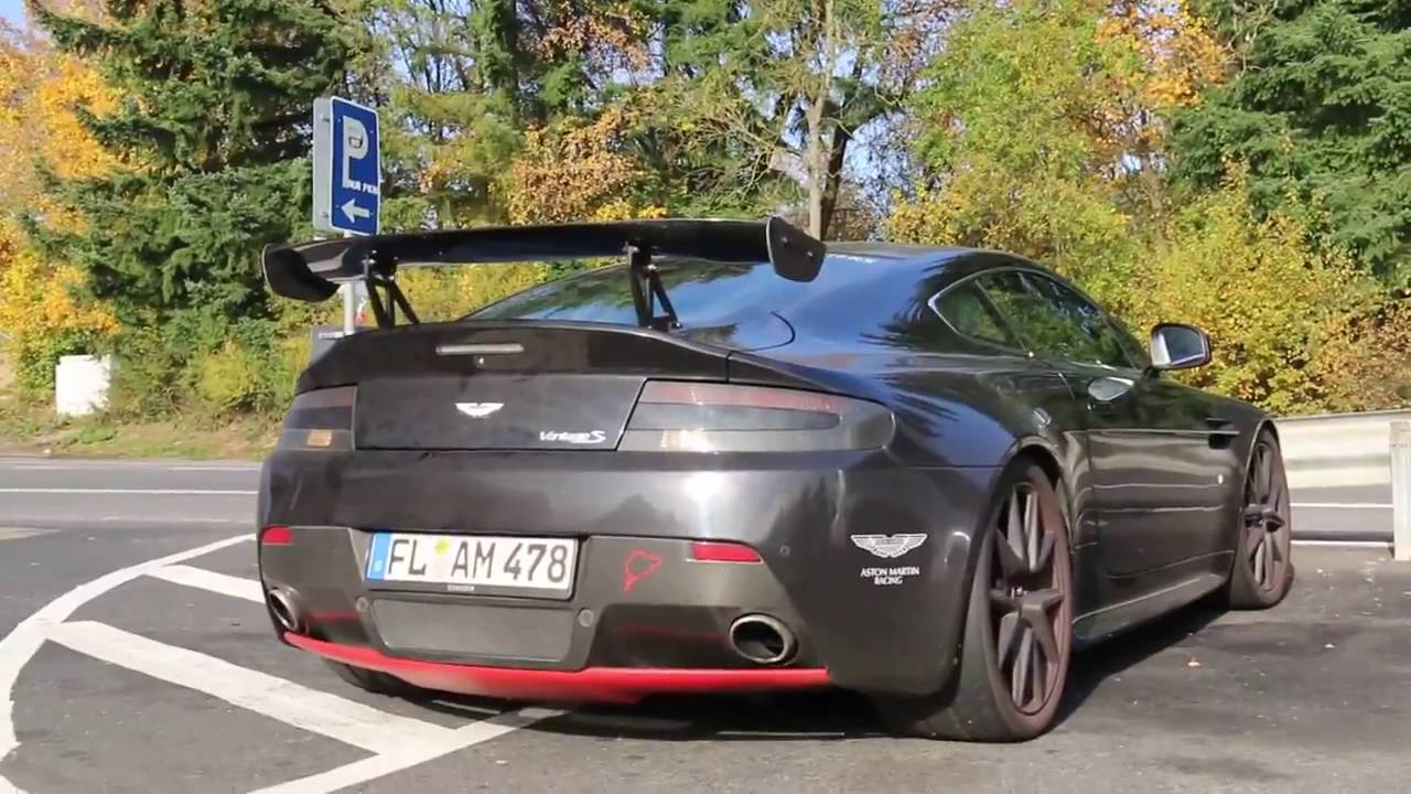 Modified Aston Martin V8 Vantage S Startup And Acceleration Loud