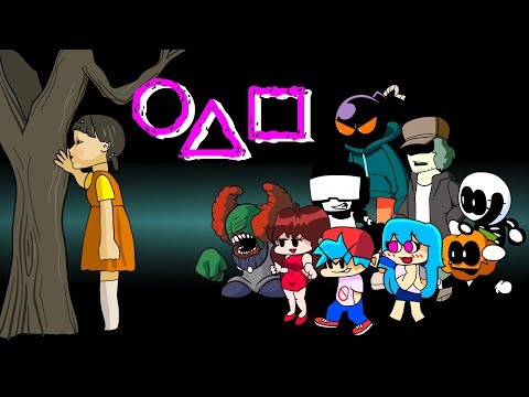 FNF Characters in Squid Game   오징어 게임   FRIDAY NIGHT FUNKIN ANIMATION