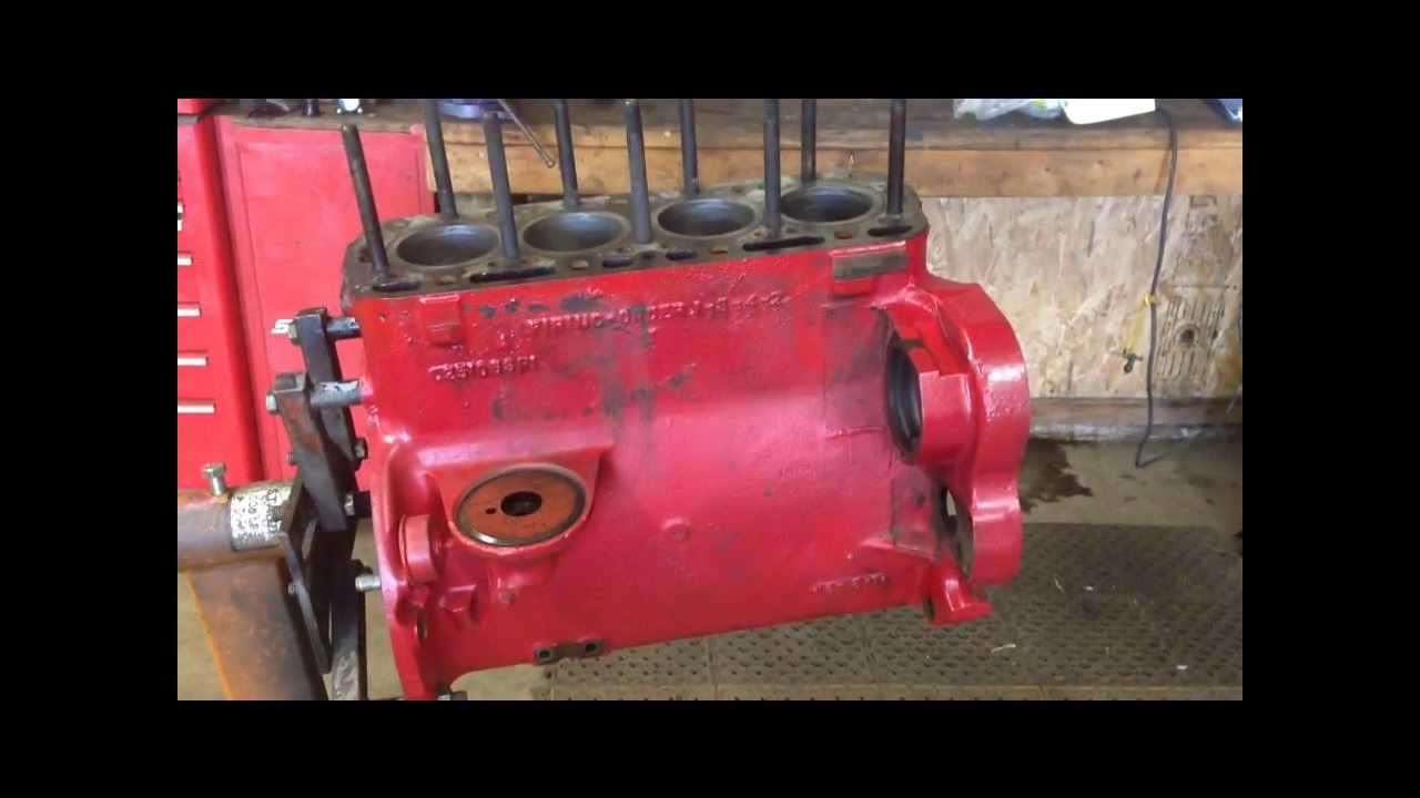 Farmall A Engine : Ihc farmall c engine assembly part youtube