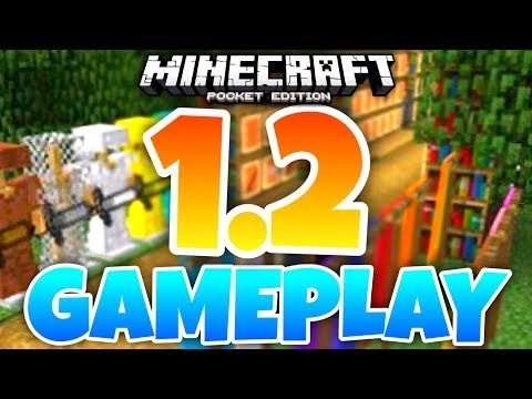 Minecraft PE 1.2 GAMEPLAY & REVIEW // MCPE 1.2 Better Together changelog (MCPE 1.2)