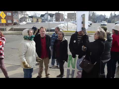 People march to Sheriff's Office in Protest of Jackson County Sheriff Steven Rand