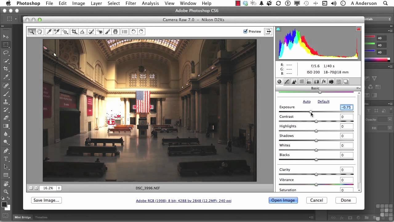 Adobe Photoshop CS6 Tutorial | Image Correction via Camera RAW ...
