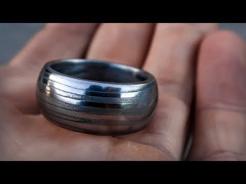Hand Forged Damascus Ring